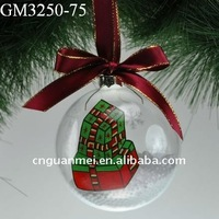 hanging hand painted Christmas gift for decoration of the Christmas tree