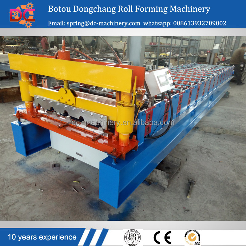 double layer corrugated roof iron sheet making roll forming machine