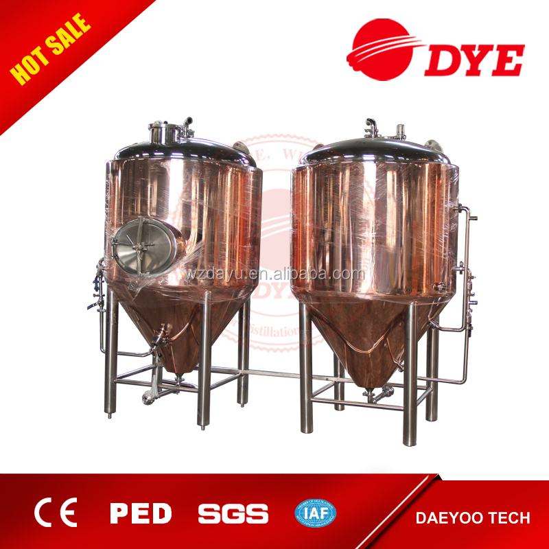 500 gallon all copper beer conical fermenter tank