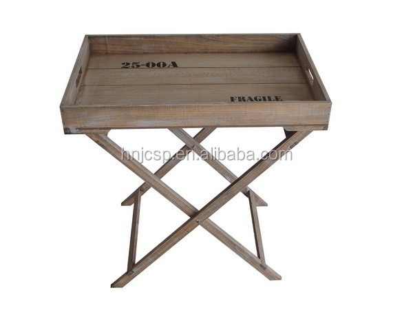 decorative solid wood serving trays with stands