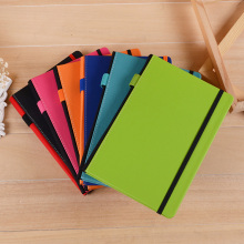 custom colorful a5 pu leather diary journal notebooks with elastic strap closure