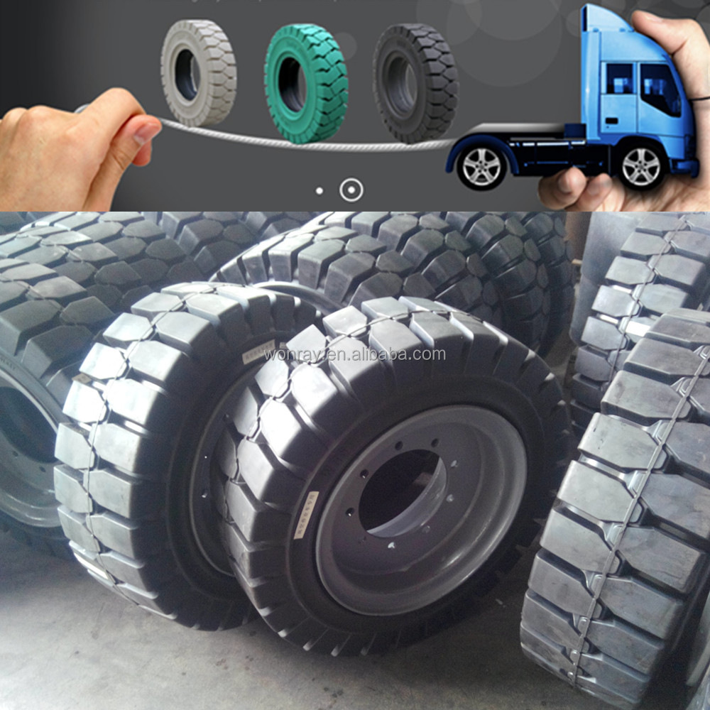 Good price new design high quality 7.00-9 Toyota forklift parts rubber wheels 22 inch assembly