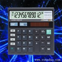 ruler with magnifier 512 calculator 12-digit calculator solar calculator check function calculator