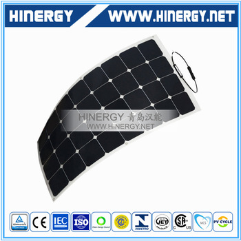 Hot sale photovoltaic panel flexible for boats 120W bendable solar panel