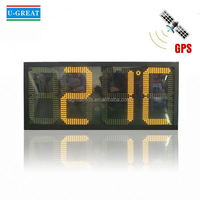 Wall digital clock large outdoor temperature led display