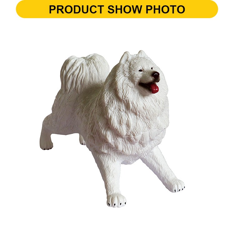 Hot sale 8 inch plastic dog feature animal model vinyl toy for kids