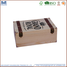 Trade Assurance Provided Top Quality Pine Wooden Wine Crate Box