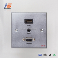 JS-WP123 electric multiple connection female wall plug socket