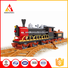 Best quality safe colorful kids enlighten plastic bricks toy bullet train toy