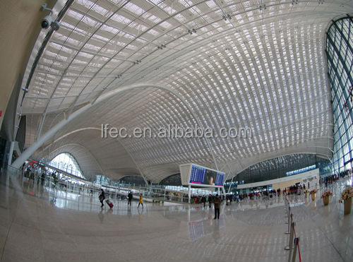 Professional Design steel structure space frame for train station