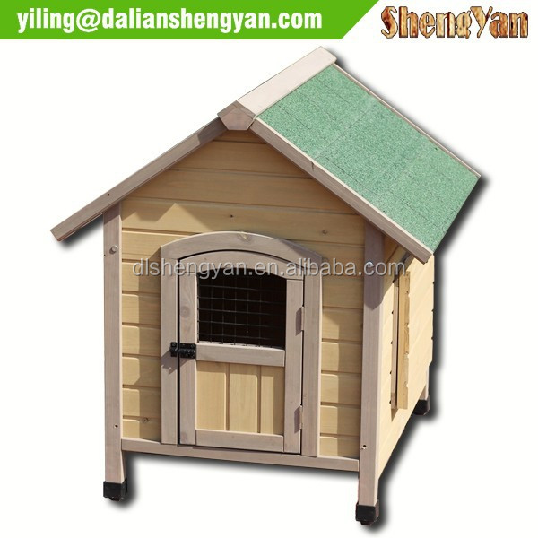 Eco-friendly Unique Outdoor China Custom Wooden Big Dog Cage