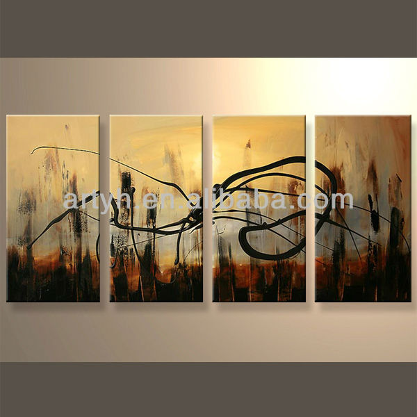 Newest Hand Fabric House Oil Painting Designs For Decoration Home