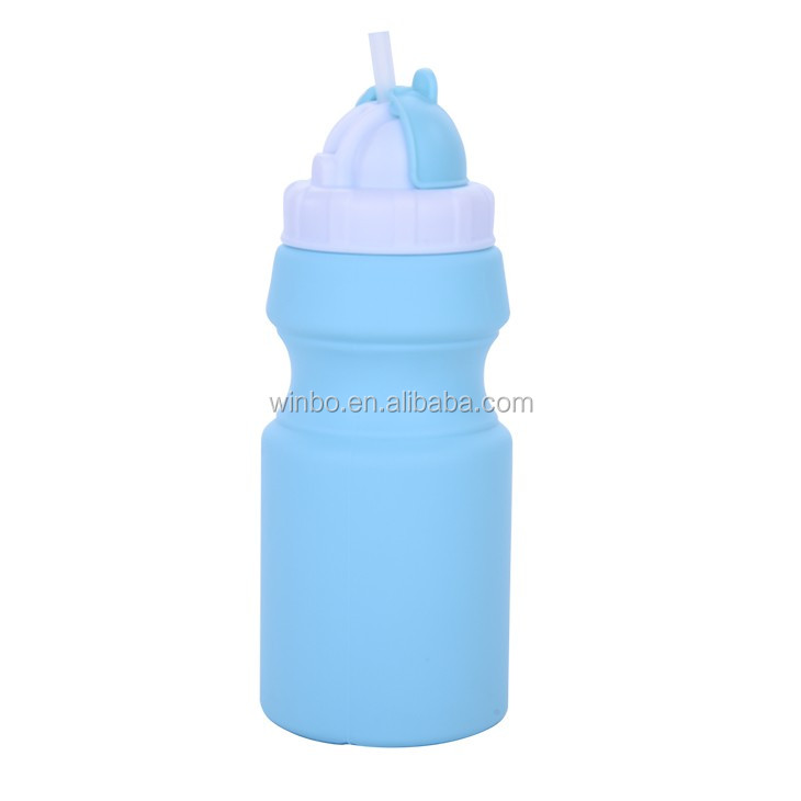 Bottle with soft surface