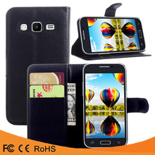Factory price leather flip case PU back cover case For Samsung Galaxy Grand Prime G5308W Grand prime
