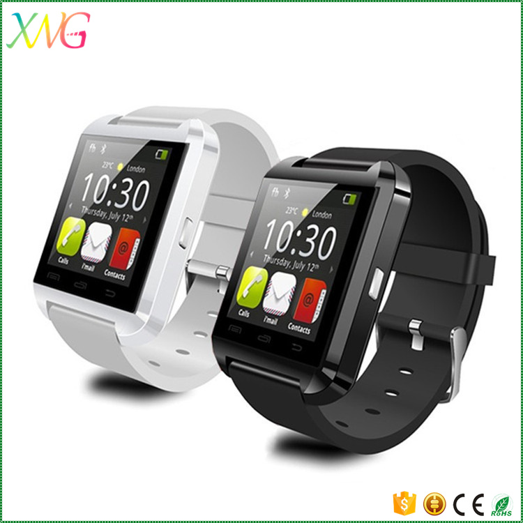 Mobile phone Android ios bluetooth U8 ce rohs smart watch with heart rate monitor