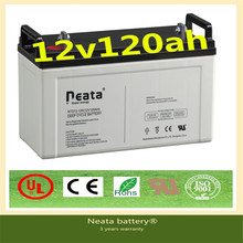 Neata high quality nice price 3years warranty gel 12v 120ah storage battery for solar system