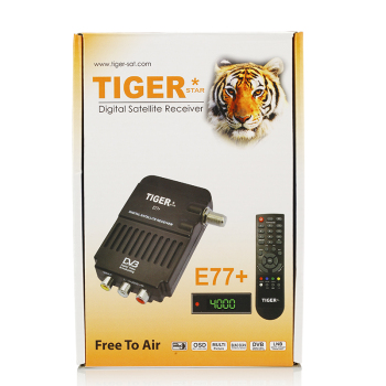 Tiger star E77+ iptv set top box digital satellite receiver support FTA