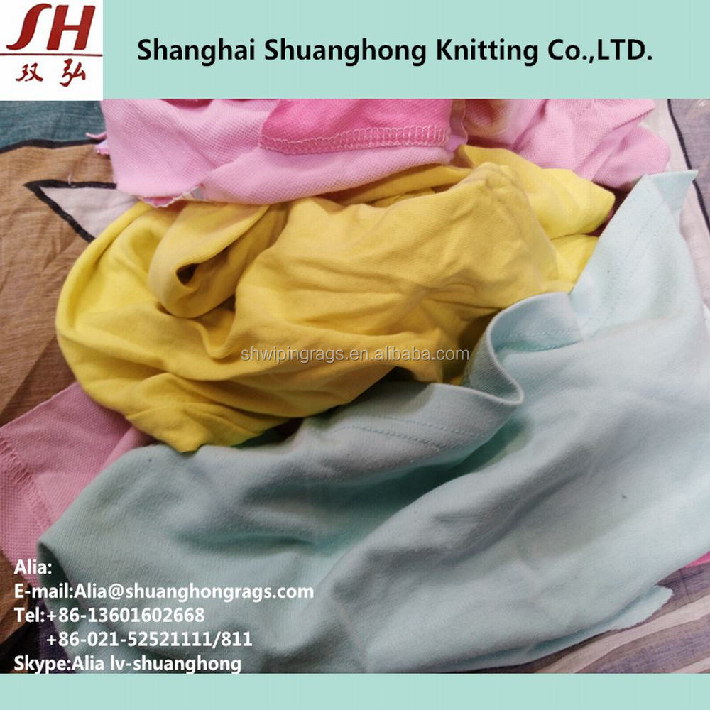 Bulk Mixed Rags Used Clothing Cotton Rags