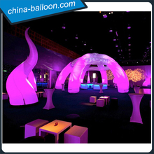 40 foot 6 legs inflatable event canopy / led gleamy inflatable arch lawn tent uk