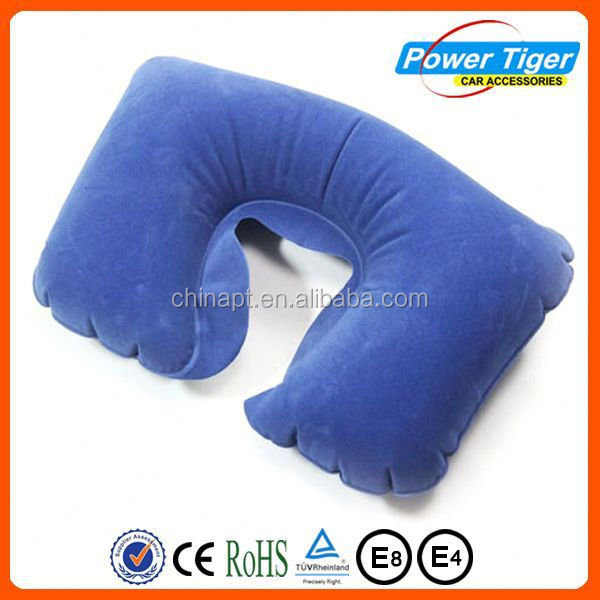 pvc flocking air neck pillow plush funny cute travel pillow
