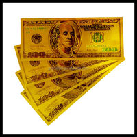 24k gold banknote wholesale pure gold banknote $100 dollar bills