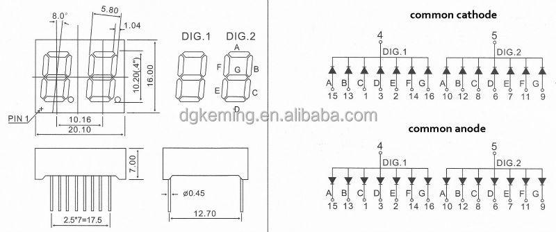 rohs  u0026 ce electronic led 0 40 inch 2 digit 7 segment