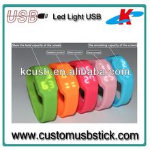 silicone bracelets usb led watch pen drive