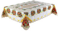 Clear plastic tablecloth independent table cloth