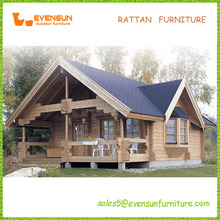 Hot Sale Russian Pine Wood Prefabricated Wooden House Bungalow