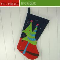 18inch plush felt fashion designer christmas stocking 2015 dropshippping
