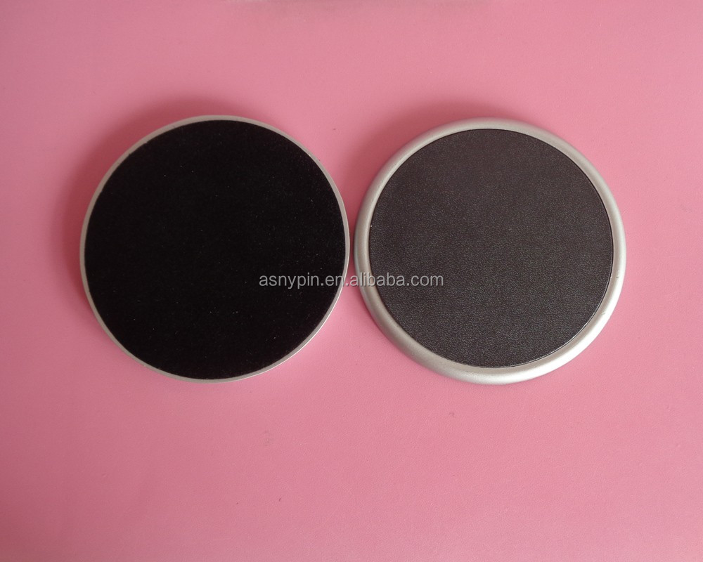 High Quality Metal Leather Drink Coaster Set In Metal Base, 4 Pieces One Set
