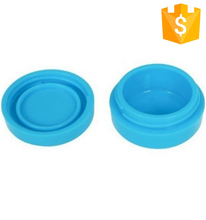 FDA Approved Food Grade Non Stick Stackable Square Style 10ml Silicone Oil Wax Container Jars