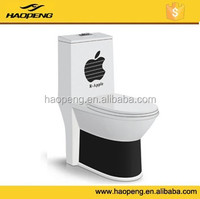 Bathroom Sanitary Ware One Piece S-trap WC Fashion Ceramic Black Color Toilet