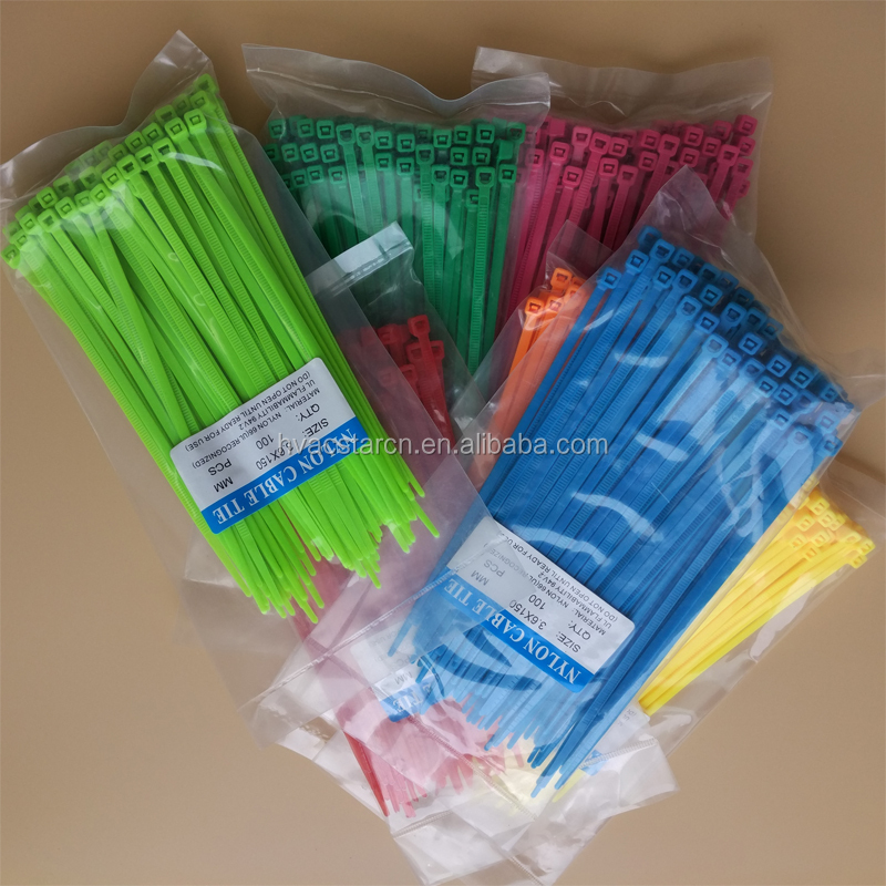 Direct deal nylon durable many colors releasable zip ties