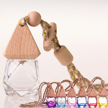 office home car air freshener colorful hanging string glass car perfume bottle
