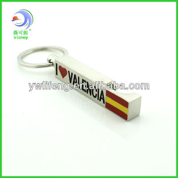 Valencia souvenir bottle opener promotion key chain