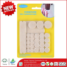 sticky adhesive furniture round square felt scratch pads