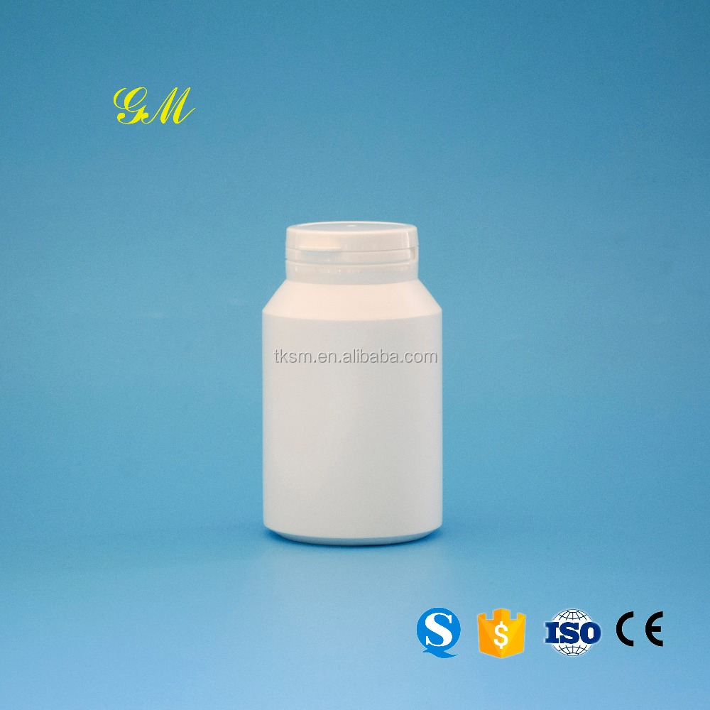 Safety 200cc White HDPE plastic capsule with pull-ring cap