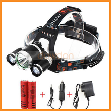 High Power 18650 Rechargeable 3 XML T6 Cree Led 5000lm Headlamp for Camping Riding Hunting