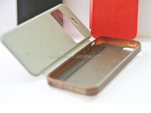 For Apple iPhone 4S TPU Cover PU Leather Side Flip Case for iPhone 4