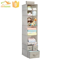 Shelf box and drawer hanging shoe closet organizer