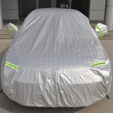 Aluminum film folding car garage waterproof sun UV protection polyester cotton car full body cover