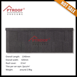 High level high quality roof tile rain carrying tiles / sand coated metal roofing tiles