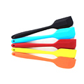 FDA Food grade 21.5CM silicone spatula blade integrated kitchen tools butter cake spatula