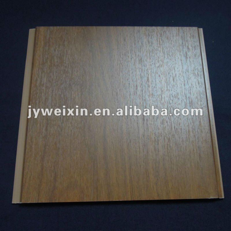 Wood grain laminated PVC panel for wall and ceiling