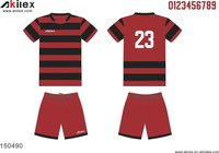 high quality footbal sublimation kids striped soccer jersey shirts with no MOQ