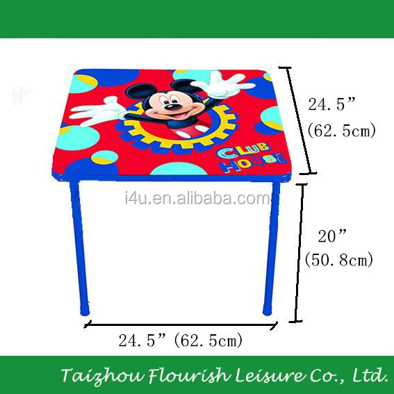Children Favorite Cartoon Folding Kids Chair And Table Set,62*62*51 cm