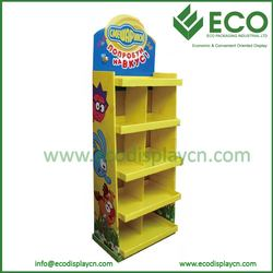 New design five trays laminate flooring display rack , toys cardboard display stand