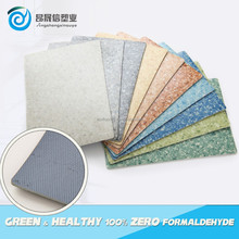 Anti-bacterial Non-slip fiberglass backed vinyl flooring with UV coating