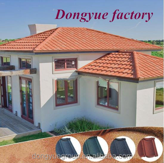 stone coated metal roof tile/color sand coated and galvanized aluminum steel roof sheet
